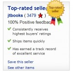 John is a top rated seller on eBay and has been buying and selling on eBay since 1999.