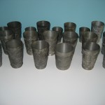 Antique Pewter Souvenir Cups