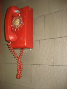 Cool 1961 Rotary Dial Wall Mount Phone - Bell System, made by Western Electric