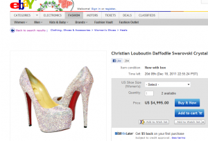 Crystal Pumps 300x204 A Unique Way To Use eBay For Self Promotion