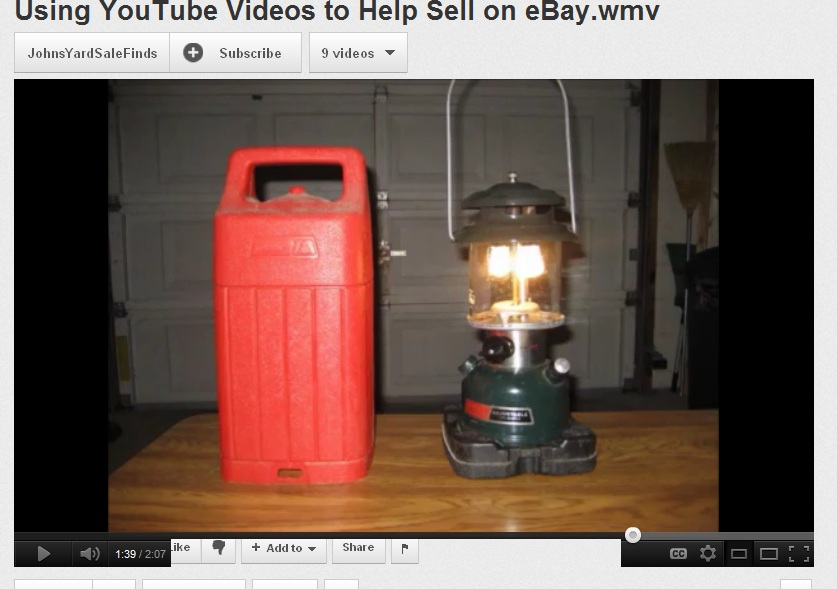 Using Youtube Videos for eBay listings