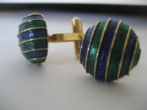 Kath found these Christian Dior Cufflinks at a Thrift Store