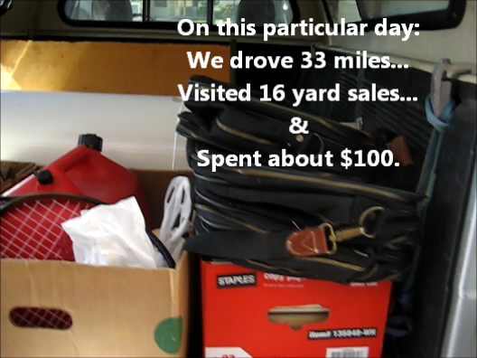 Our results from a typical yard sale day